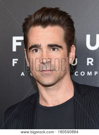 LOS ANGELES - MAR 29:  Colin Farrell arrives for the CinemaCon 2017-Focus Features Luncheon Celebrating 15 Years and A Bright Future on March 29, 2017 in Las Vegas, NV