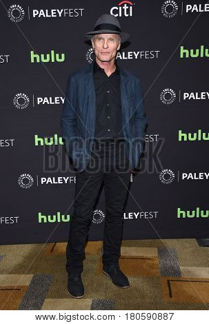 LOS ANGELES - MAR 25:  Ed Harris arrives for the Paleyfest 2017-Westworld on March 25, 2017 in Hollywood, CA