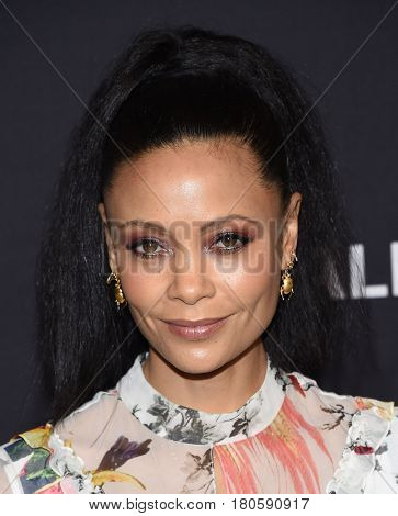 LOS ANGELES - MAR 25:  Thandie Newton arrives for the Paleyfest 2017-Westworld on March 25, 2017 in Hollywood, CA