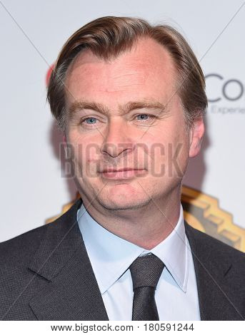 LOS ANGELES - MAR 29:  Christopher Nolan arrives for the CinemaCon 2017-Warner Brothers on March 29, 2017 in Las Vegas, NV