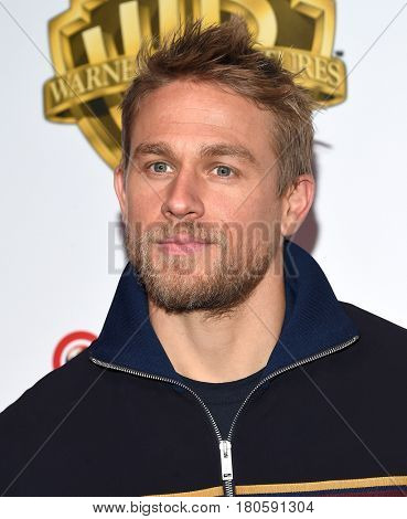 LOS ANGELES - MAR 29:  Charlie Hunnam arrives for the CinemaCon 2017-Warner Brothers on March 29, 2017 in Las Vegas, NV