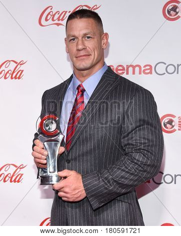 LOS ANGELES - MAR 30:  John Cena arrives for the CinemaCon 2017-Awards Presentation on March 30, 2017 in Las Vegas, NV