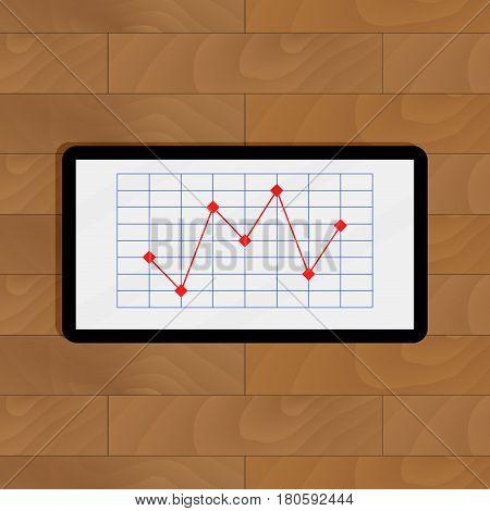 Infographic finance for presentation. Report progress infochart growth. Vector illustration