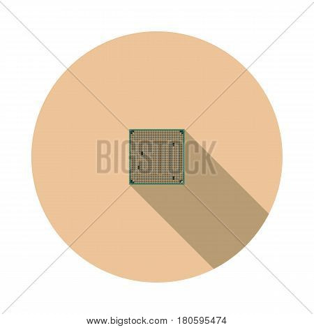 Vector image CPU on a round basis