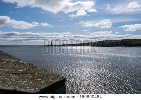 The river mouth of the Tweed at Berwick upon Tweed