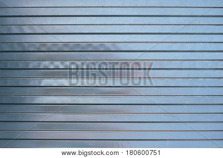 Structure zinc-coated perforated sheet of blue color