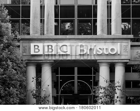 Bbc Broadcasting House In Bristol In Black And White