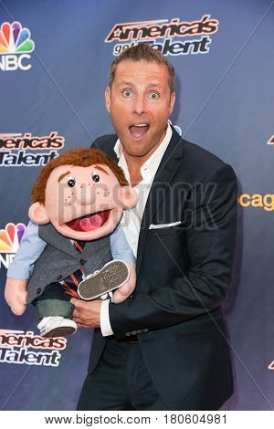 NEW YORK-AUG 11: Ventriloquist Paul Zerdin attends the 'America's Got Talent' season 10 taping at Radio City Music Hall on August 11, 2015 in New York City.