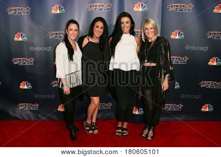 NEW YORK-AUG 12: DM Nation dancers attend the 'America's Got Talent' Season 10 Results Show at Radio City Music Hall on August 12, 2015 in New York City.