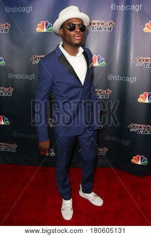NEW YORK-AUG 12: Singer Omi attends the 'America's Got Talent' Season 10 Results Show at Radio City Music Hall on August 12, 2015 in New York City.