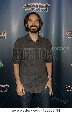NEW YORK-AUG 12: Comedian Myq Kaplan attends the 'America's Got Talent' Season 10 Results Show at Radio City Music Hall on August 12, 2015 in New York City.
