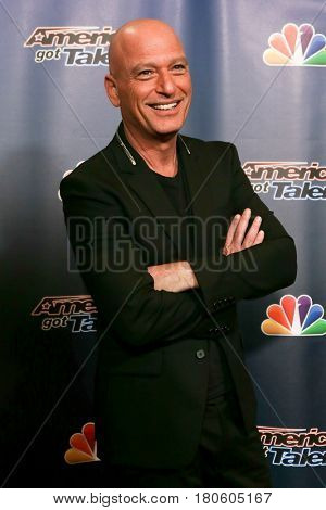 NEW YORK-AUG 12: Comedian Howie Mandel attends the 'America's Got Talent' Season 10 Results Show at Radio City Music Hall on August 12, 2015 in New York City.