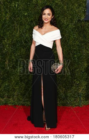 NEW YORK-JUN 7: Actress Lydia Leonard attends American Theatre Wing's 69th Annual Tony Awards at Radio City Music Hall on June 7, 2015 in New York City.