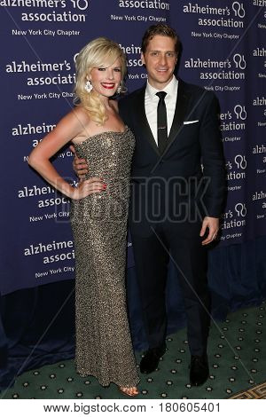 NEW YORK-JUN 8: Actress Sheila Coyle (L) and Andy Kelso attend Alzheimer's Association New York City Chapter's 2015