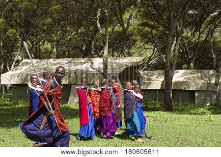 Maasi Village, During Ceremony, Ngorongoro Conservationa Area, Tanzania