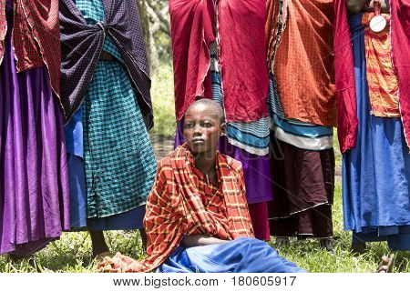 Girl In Ceremonial Dress, Maasi Village, Ngorongoro Conservationa Area, Tanzania