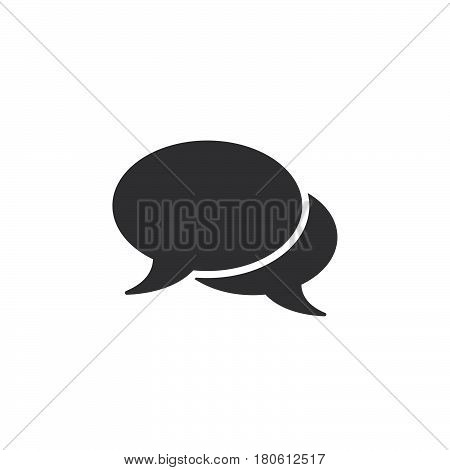 Comments Icon Vector, Speech Bubbles Solid Logo Illustration, Chat Pictogram Isolated On White