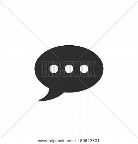 Comment Icon Vector, Speech Bubble Solid Logo Illustration, Pictogram Isolated On White