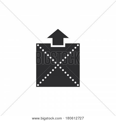 Extract Archive Icon Vector, Solid Logo Illustration, Pictogram Isolated On White
