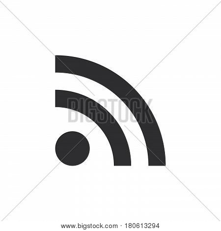 Feed Icon Vector, Rss Solid Logo Illustration, Pictogram Isolated On White