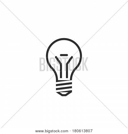 Lightbulb Line Icon, Lamp Outline Vector Logo Illustration, Linear Pictogram Isolated On White