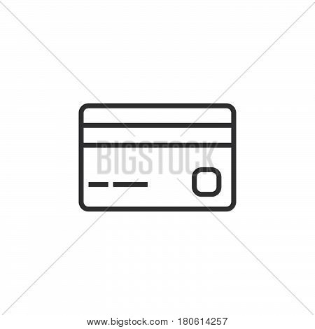Payment Line Icon, Credit Card Outline Vector Logo, Linear Pictogram Isolated On White, Pixel Perfec