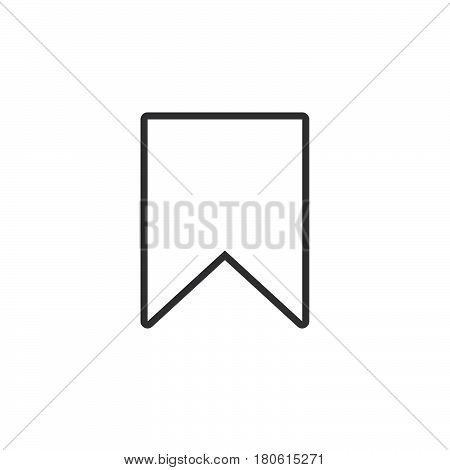 Bookmark Line Icon, Outline Vector Logo Illustration, Linear Pictogram Isolated On White