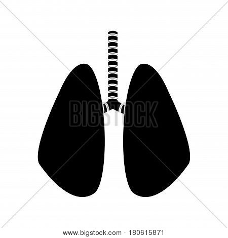 Human lungs black and white