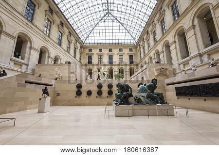 The Marly Square, The Louvre, Paris, France