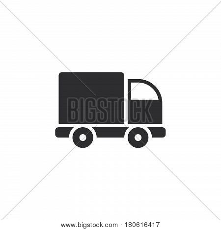 Lorry Icon Vector, Truck Solid Logo Illustration, Pictogram Isolated On White