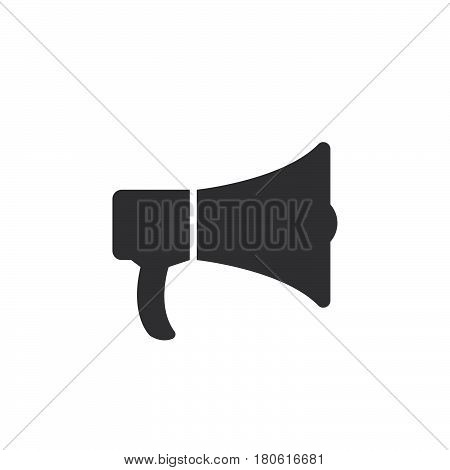 Bullhorn Icon Vector, Announcement Solid Logo Illustration, Pictogram Isolated On White