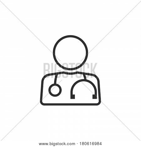 Doctor Line Icon, Physician Outline Vector Logo Illustration, Linear Pictogram Isolated On White