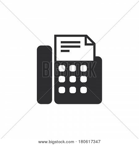 Fax Machine Icon Vector, Telefax Solid Logo Illustration, Pictogram Isolated On White