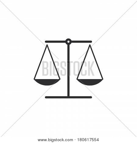 Law Symbol. Scales Icon Vector, Libra Solid Logo Illustration, Pictogram Isolated On White