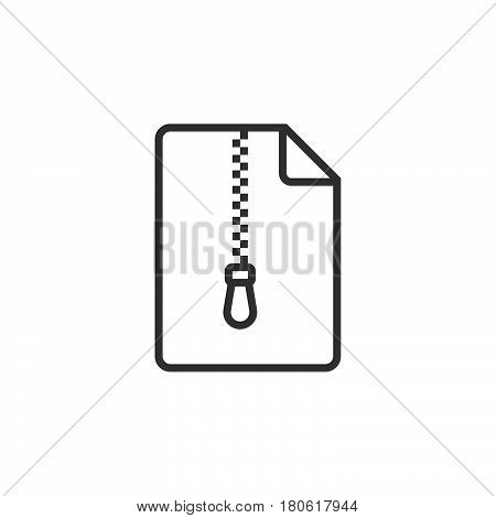 File Archive Line Icon, Outline Vector Logo Illustration, Linear Pictogram Isolated On White