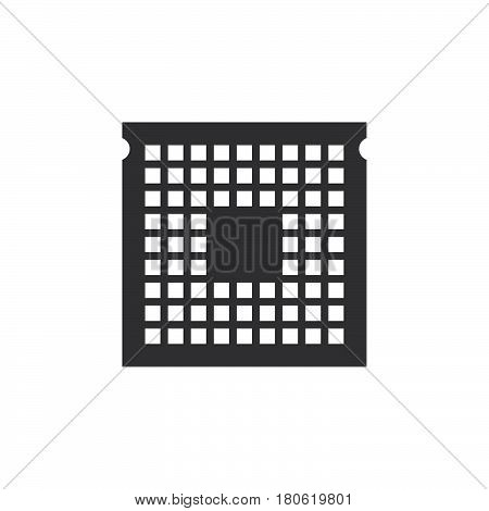 Cpu Icon Vector, Processor Solid Logo Illustration, Pictogram Isolated On White
