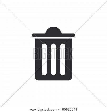 Trash Bin Icon Vector, Delete Solid Logo Illustration, Pictogram Isolated On White