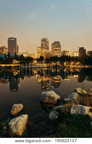 Calgary Prince's Island at night, Canada.