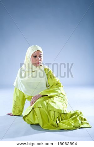 Young Islamic woman in traditional clothing