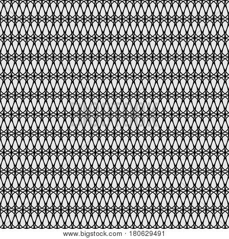 Seamless lattice pattern. Black repeating grid background. Vector illustration
