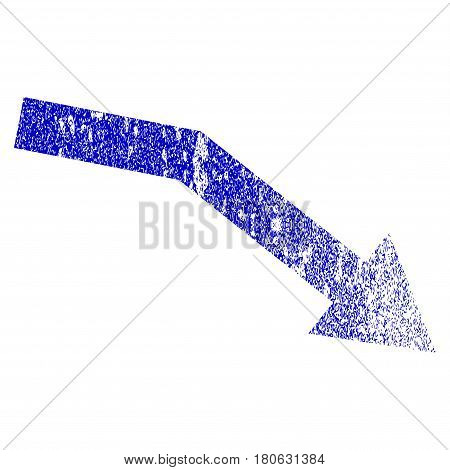 Fail Trend grunge textured icon. Flat style with scratched texture. Corroded vector blue rubber seal stamp style. Designed for overlay watermark stamp elements with grainy design.