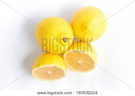 Yellow Lemon Into A Basket. Sicilians Lime