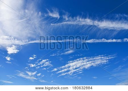 Cloud Scape with a Beautiful Blue Sky