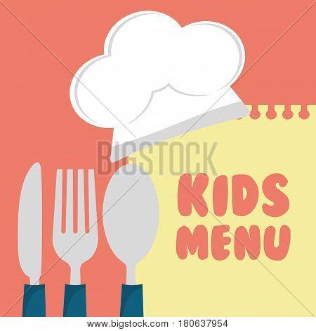 kids menu cuttlery kitchen design vector illustration eps 10