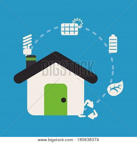 home sustainable ecology recycle energy vector illustration eps 10