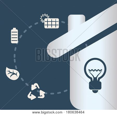 home sustainable energy ecology concept vector illustration eps 10