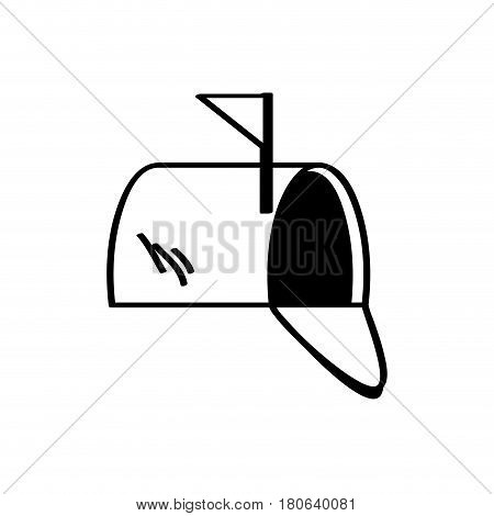 box mail correspondence message vector illustration eps 10