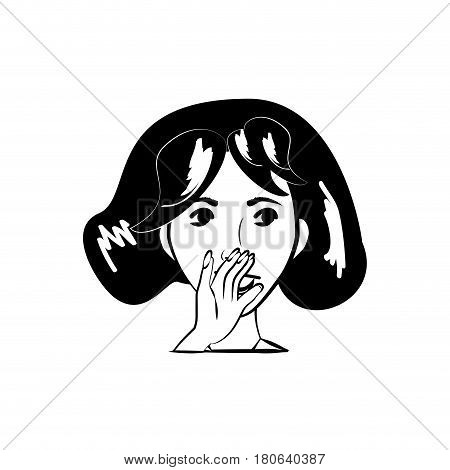 cartoon woman character posture line vector illustration eps 10