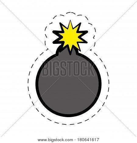 comic bomb explotion symbol vector illustration eps 10