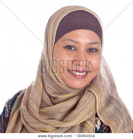 Confident and beautiful mature Muslim woman